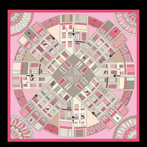 Zijden sjaal, Roze, hi-res - View 1 of 1