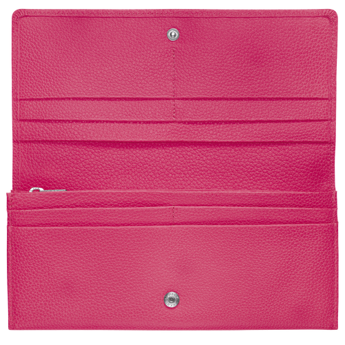 Long continental wallet, Pink/Silver - View 2 of  3 -