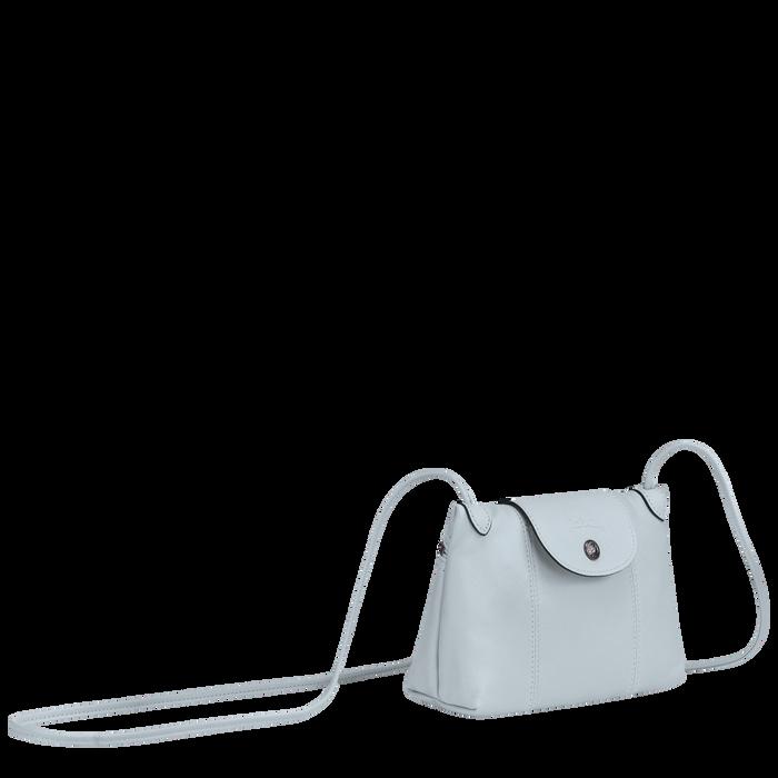 Le Pliage Cuir Crossbody bag, Sky Blue