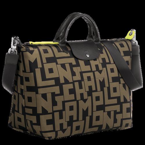 Travel bag, Black/Khaki, hi-res - View 2 of 3