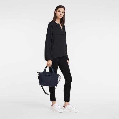 Top handle bag S, Navy - View 2 of  5 -