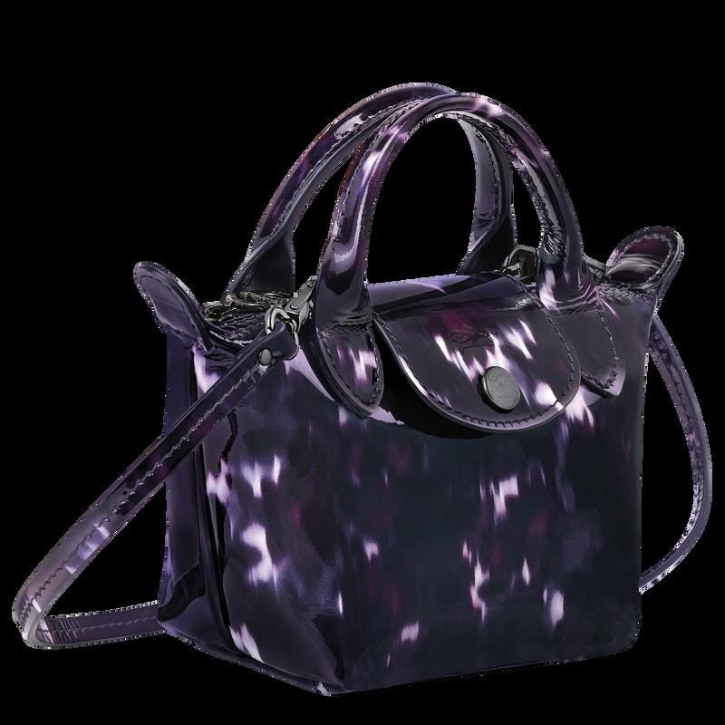 Le Pliage Cuir Top handle bag, Bilberry
