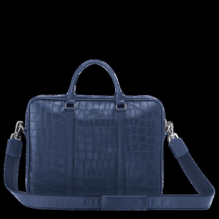 Croco Block Briefcase XS, Navy