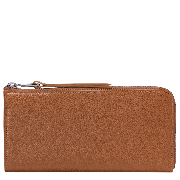 Long zip around wallet, Caramel, hi-res - View 1 of 2