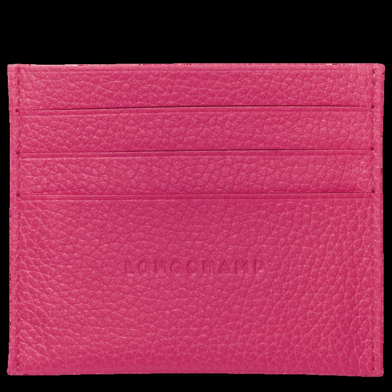 Le Foulonné Card holder, Pink/Silver