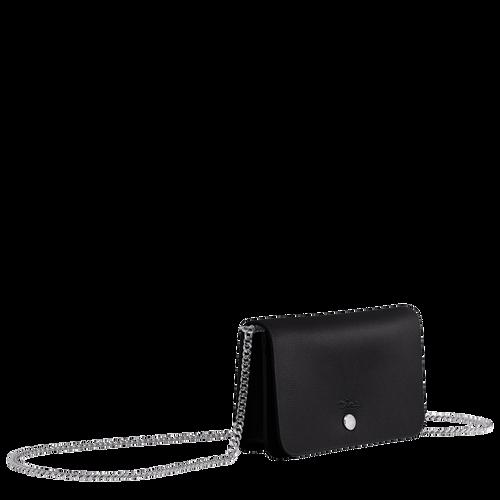 鍊帶錢包, 黑色, hi-res - 2 的視圖 3