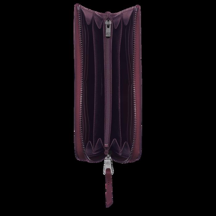 Longchamp 3D Long zip around wallet, Grape