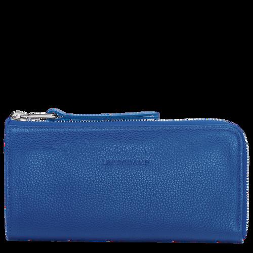 Zip around wallet, Sapphire, hi-res - View 1 of 1