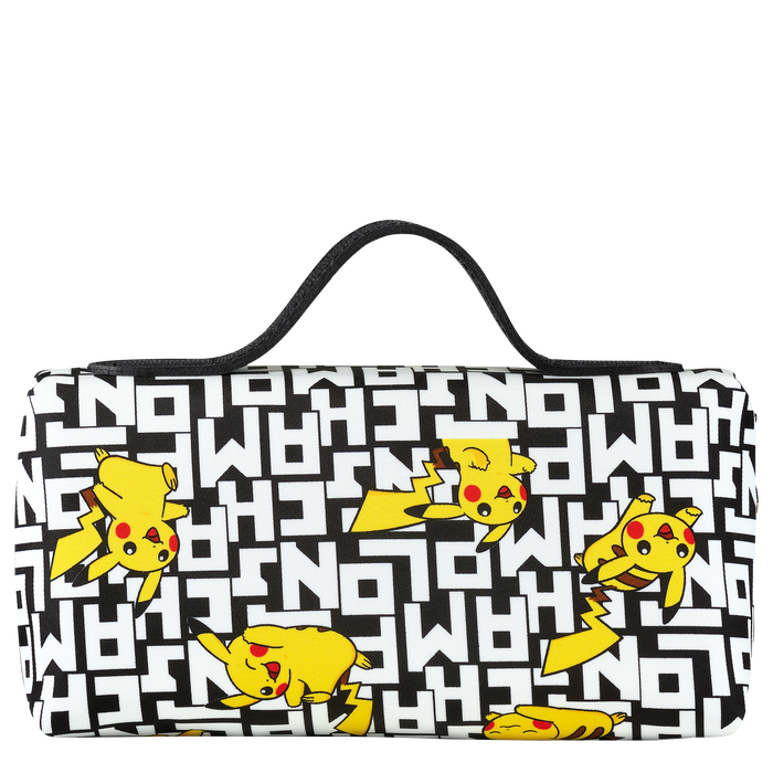 Longchamp x Pokémon Cosmetic case, Black/White