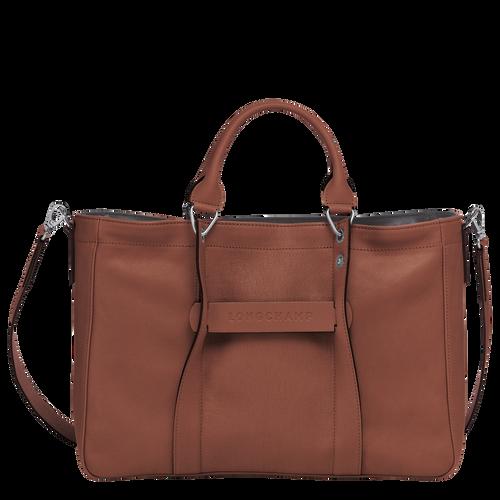 Sac porté main M Longchamp 3D Cognac (L1285772504) | Longchamp BE