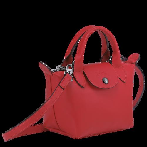 Le Pliage Cuir Sac porté main XS, Rouge