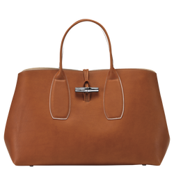 Top handle bag L, Cognac, hi-res