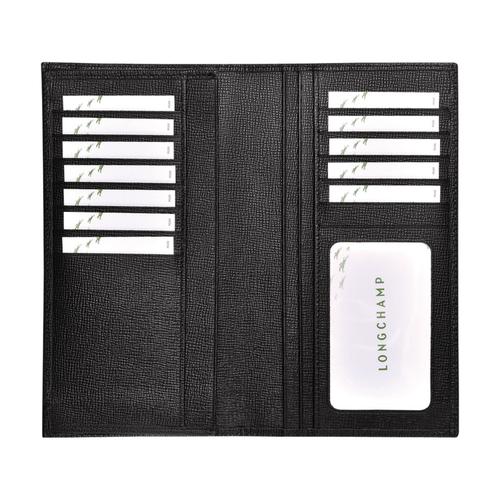 View 3 of Long wallet, Black, hi-res