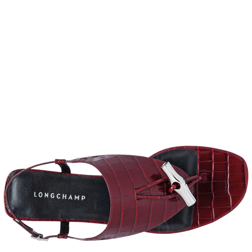 Spring-Summer 2021 Collection Flat sandals, Burgundy
