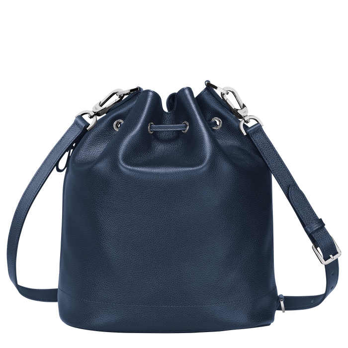 Le Foulonné Bucket bag M, Navy