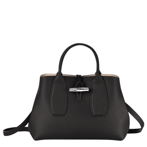 View 1 of Top handle bag M, Black, hi-res