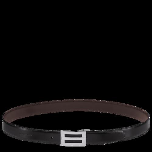 Men's belt, Black/Mocha - View 2 of  2 -