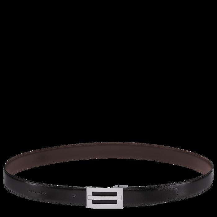 Men's belt, Black/Mocha - View 2 of  2 - zoom in