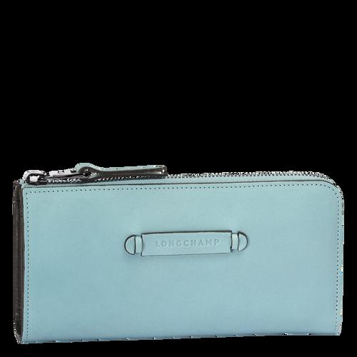 Zip around wallet, 464 Aqua, hi-res