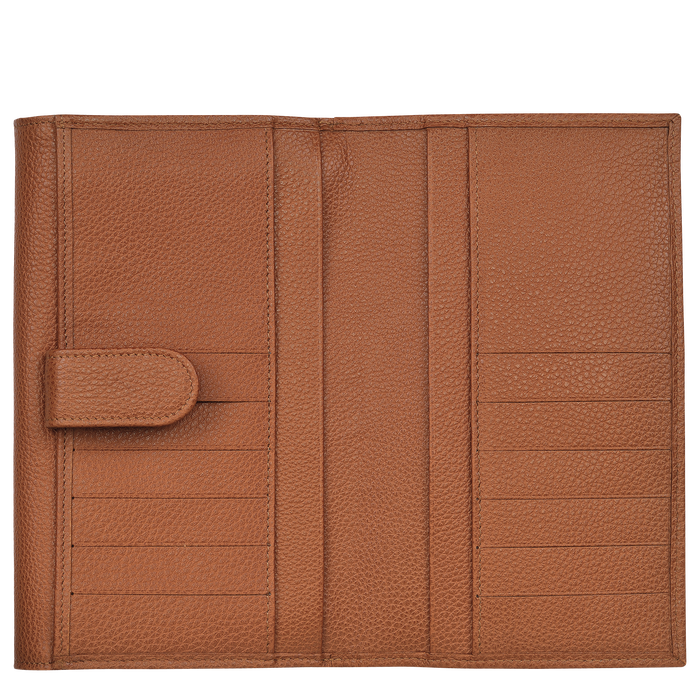 Long continental wallet, Caramel - View 2 of  2 - zoom in