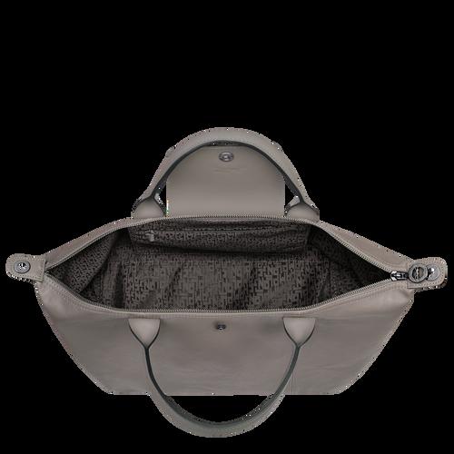 Le Pliage Cuir Top handle bag M, Turtledove
