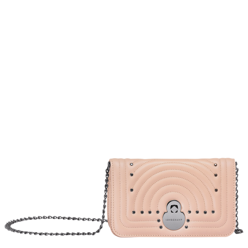View 1 of Wallet on chain, Antique Pink, hi-res