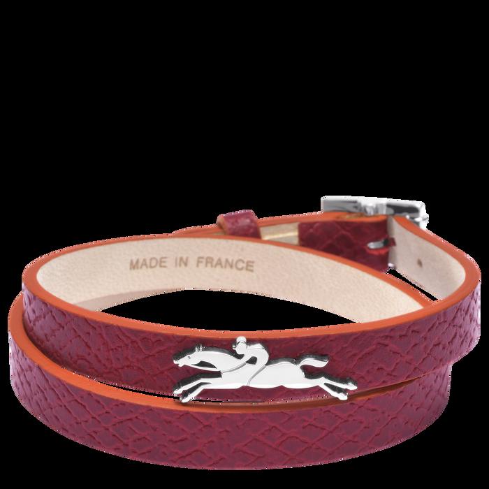 Le Pliage Club Bracelet, Garnet Red
