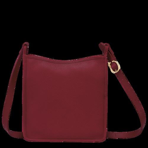 Le Foulonné Zipped crossbody bag L, Red