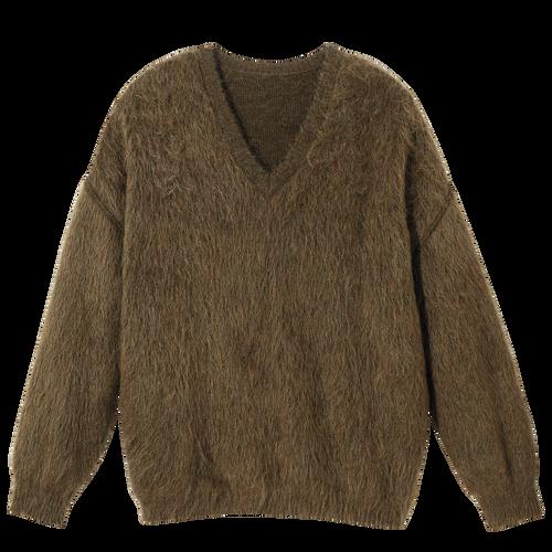 Herbst-Winter-Kollektion 2021 Pullover, Khaki
