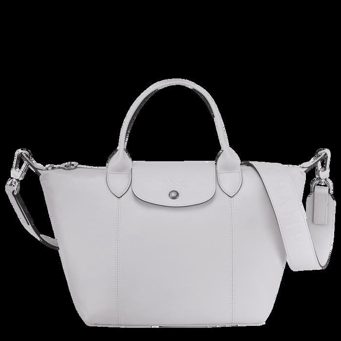 Le Pliage Cuir Top handle bag S, Grey