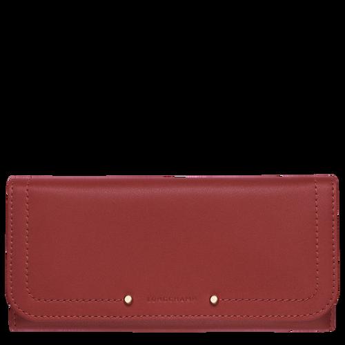 View 1 of Continental wallet, Vermilion, hi-res