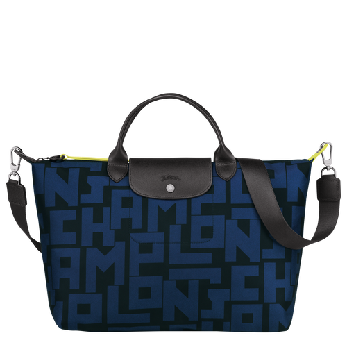 Top handle bag L, Black/Navy - View 1 of 4 -