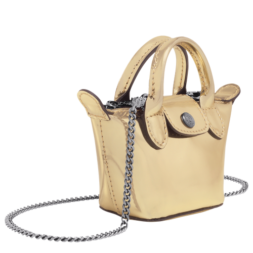 Crossbody bag XS, Pale Gold - View 2 of 3 -
