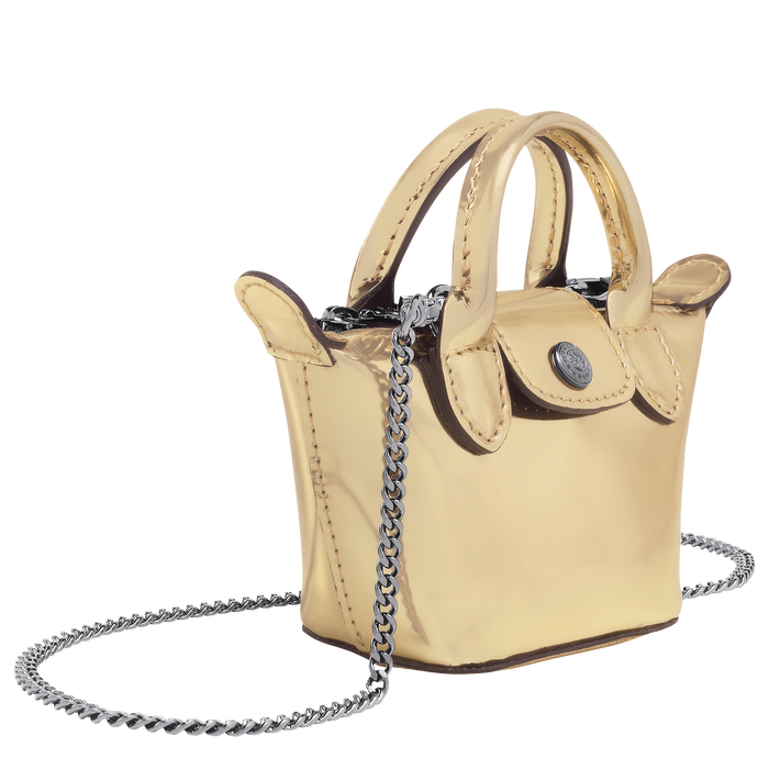 Crossbody bag XS, Pale Gold - View 2 of 3 - zoom in