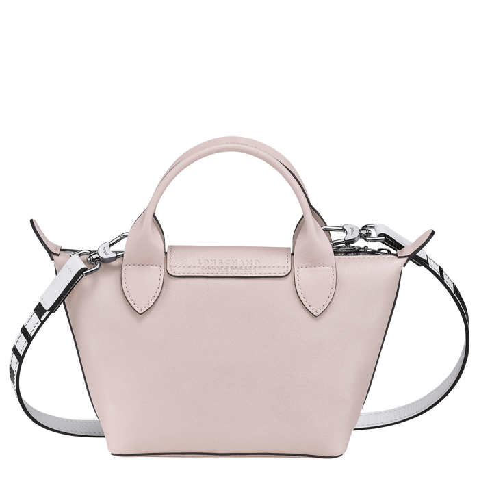 Le Pliage Cuir - Chinese New Year Edition Top handle bag XS, Pale Pink