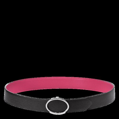 Ladies' belt, Black/Pale Pink - View 1 of 1 -