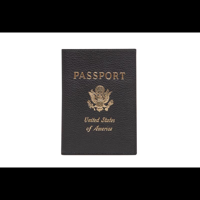 Le Foulonné Passport cover, Black
