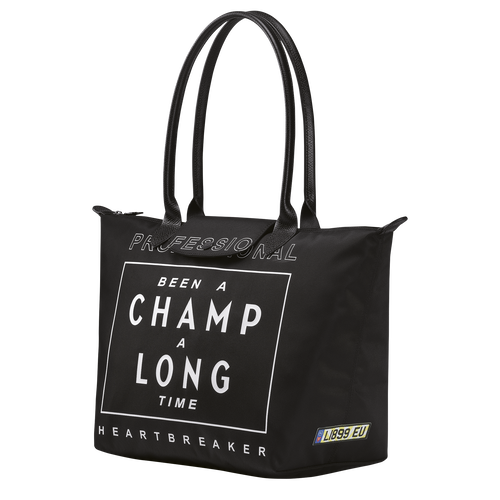 Longchamp x EU Schoudertas L, Zwart