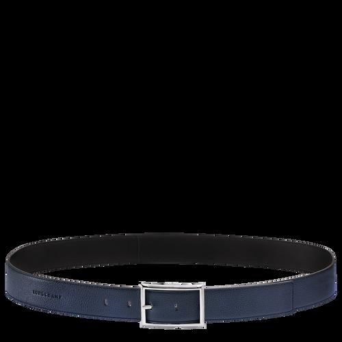 Le Foulonné Cinturón de hombre, Azul Oscuro/Negro