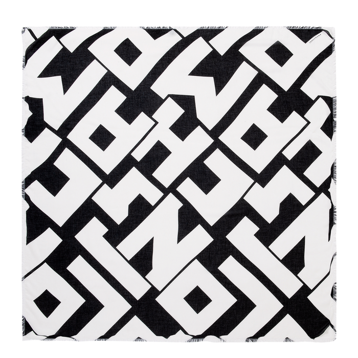 Spring-Summer 2021 Collection Ladies' stole, Black/White