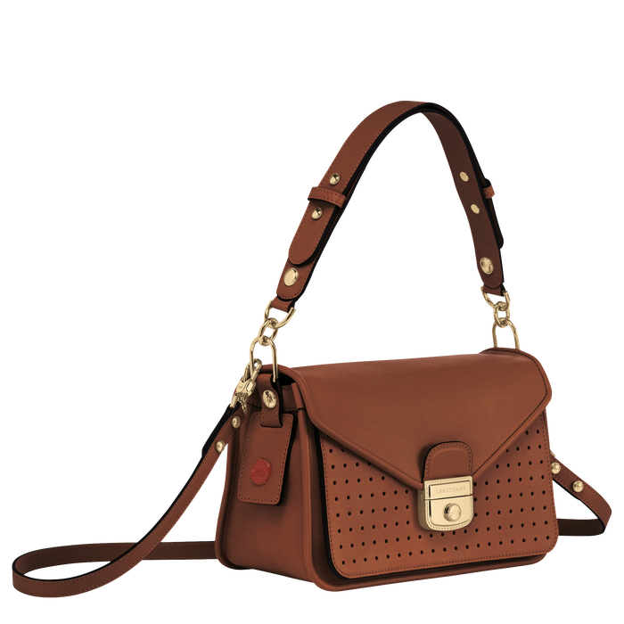Mademoiselle Longchamp 斜揹袋 S, 白蘭地酒色
