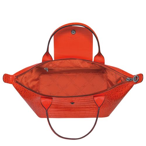 Le Pliage Cuir Sac porté main S, Orange