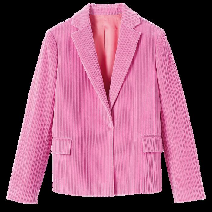 2021 秋冬系列 短身外套, 牡丹色