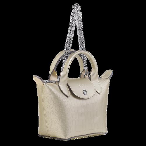 View 2 of Mini top-handle bag, Platinum, hi-res