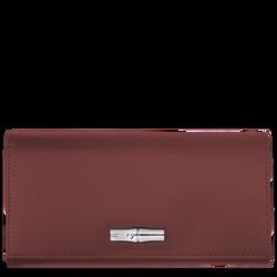Long continental wallet, Mahogany