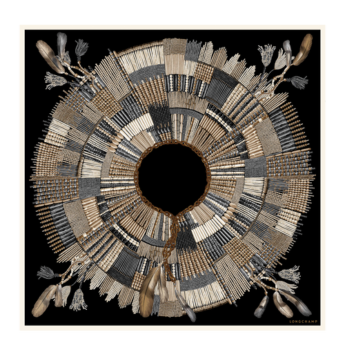Silk scarf, Natural, hi-res - View 1 of 1