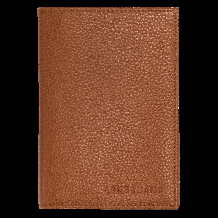 Le Foulonné Passport cover, Caramel