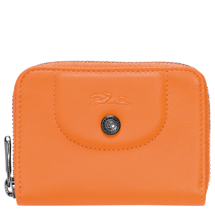 Zipped card holder, Orange, hi-res - View 1 of 2