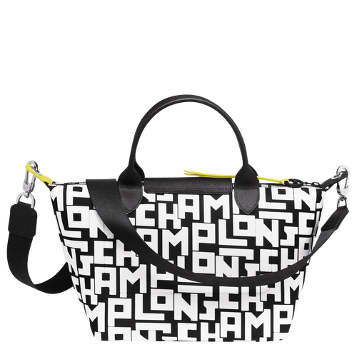 Top handle bag S, Black/White - View 3 of  4 -