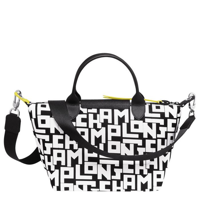 Top handle bag S, Black/White - View 3 of  4 - zoom in
